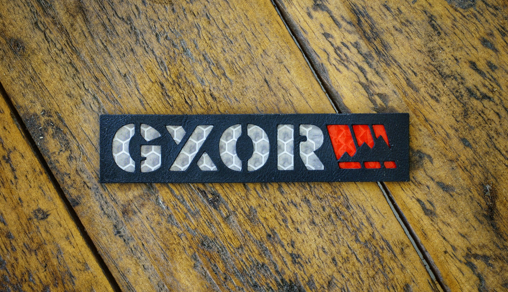 GXOR Leather Laser Cut Reflective Patch