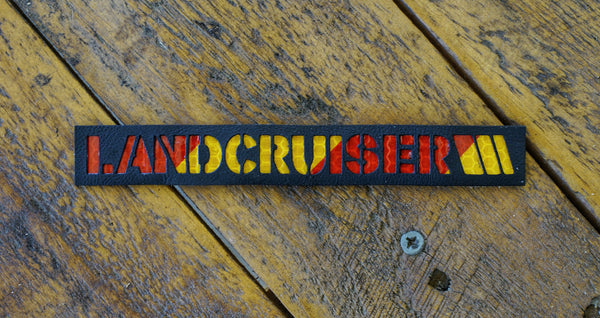 Landcruiser Leather Laser Cut Reflective Patch
