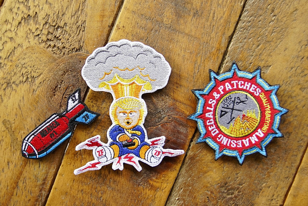 "Trump Bomb Drop 4"" Velcro Patch Limited Set of 100."
