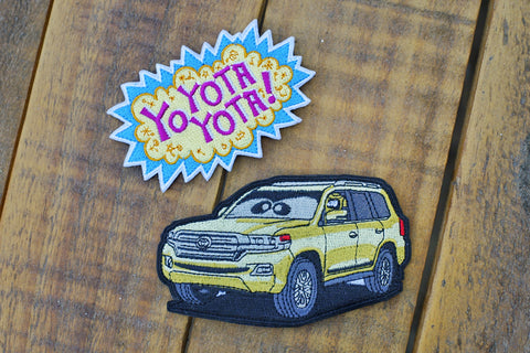 "Yo Yota Yota Series Plex Robot Land Cruiser 4.5"" Velco Patch"