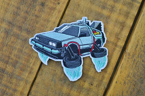 "BTTF Delorean Mini 4.25"" Velcro Patch"