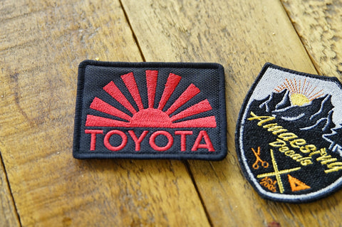 "Toyota Rising Sun 3.5"" Velcro Patch"