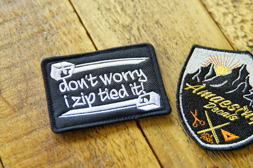 "Zip Tied It 3.5"" Velcro Patch"