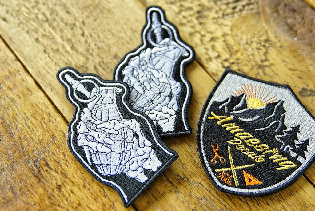 "Grenade Skeleton 4"" Velcro Patch"