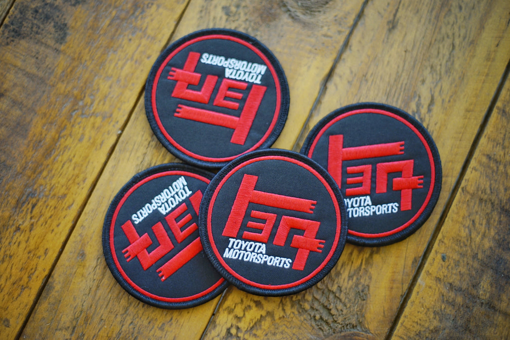 "TEQ LTD Blk/Red 3"" Round Velcro Patch"