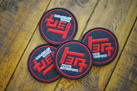 "TEQ Blk/Red 3"" Round Velcro Patch"