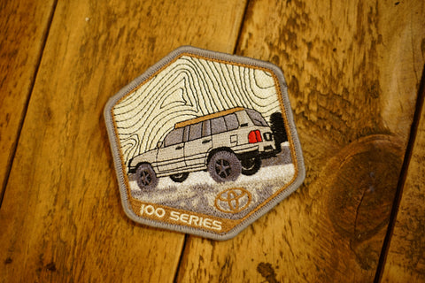 "100 Series Land Cruiser 4"" Velcro Patch"