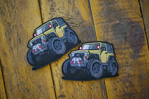 "Jeep JK Mini 4.25"" Velcro Patch"