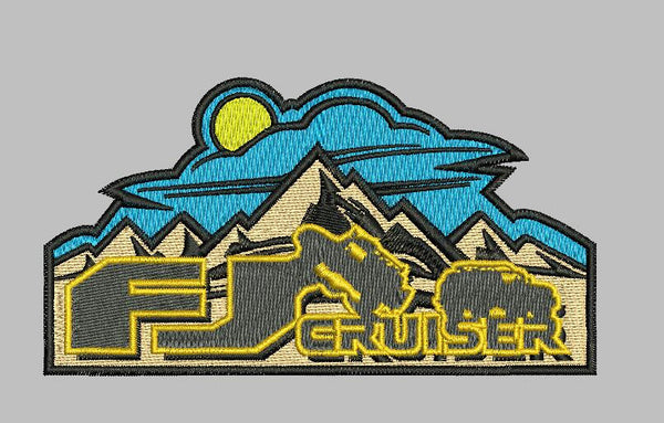 "FJ Cruiser Mountain Scape 4""w Patch Velcro Backing"