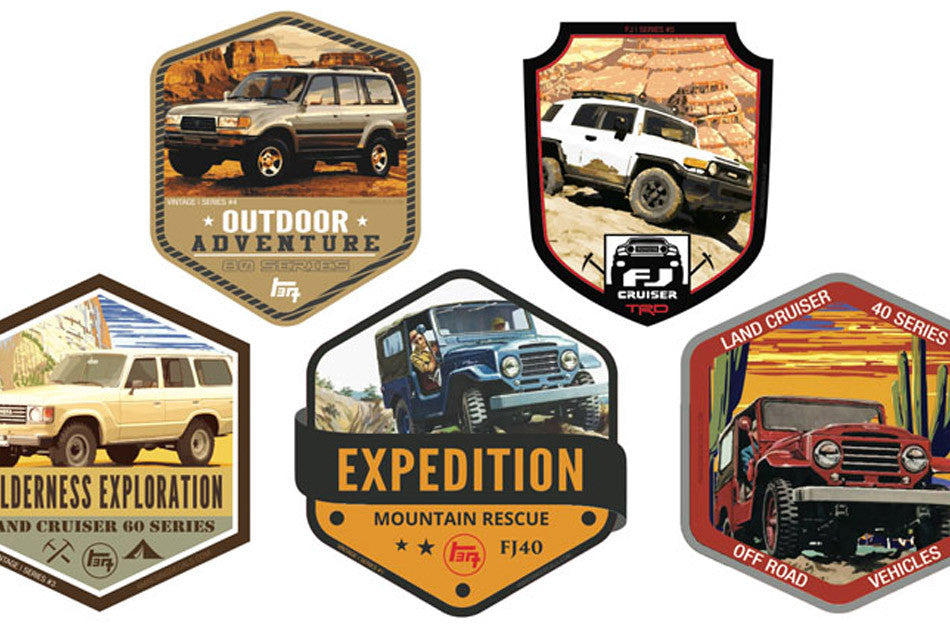 Limited Edition FJ Series Adventure Sticker 5-pack