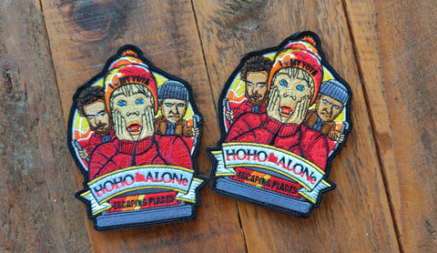 "HoHo Alone Holiday 5"" Velcro Patch"