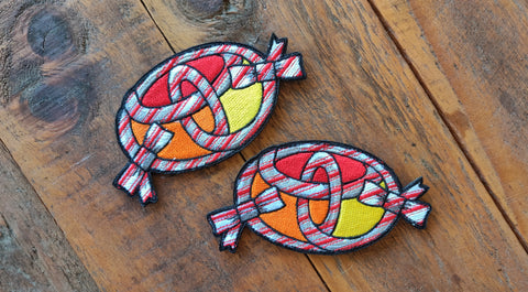 "Candy Cane Yota Symbol Rope 4.5"" Velcro Patch"
