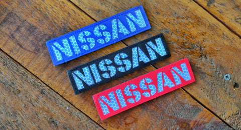 "Nissan Laser Cut Reflective 5"" Velcro Patch"
