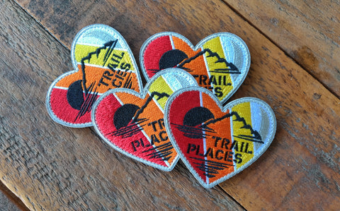 "Trail Places Retro Heart 3"" Velcro Patch"