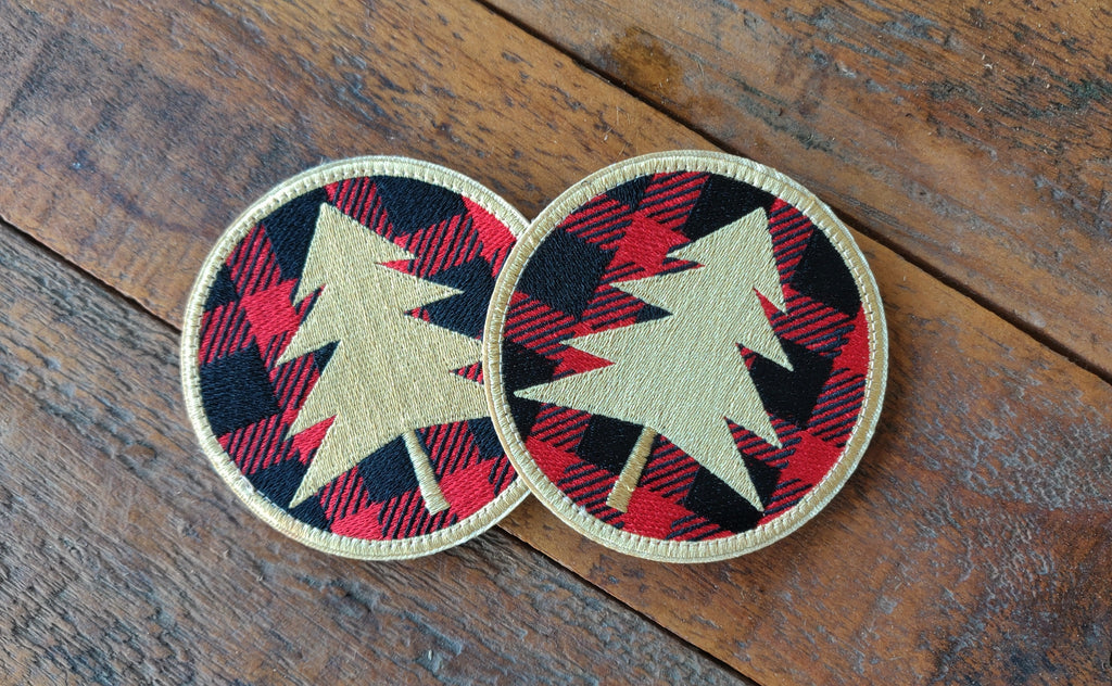 "Wilderness Outdoor Plaid 3.5"" Velcro Patch"