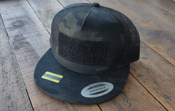 MultiCam Black Mesh Snap Back Patch Panel Hat