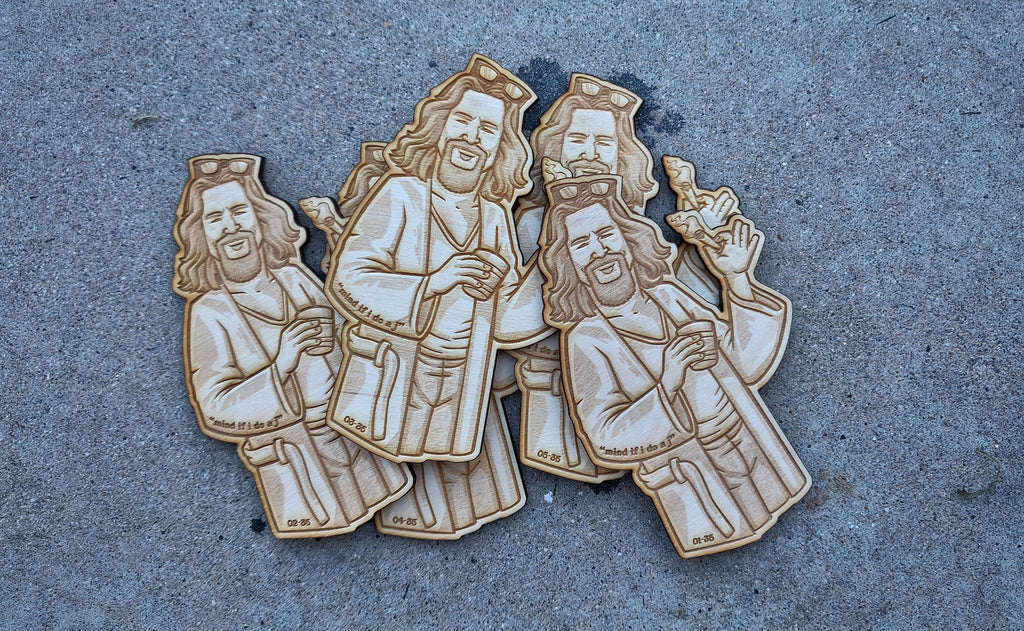 "The Dude Wood Cut 5"" Patch"
