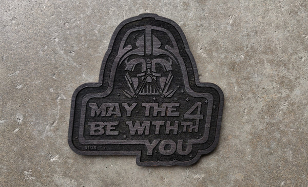 May The 4th Wood Cut Series Patches