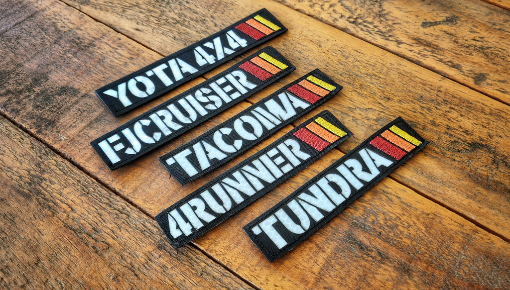 Yota Laser Cut Reflective Patches