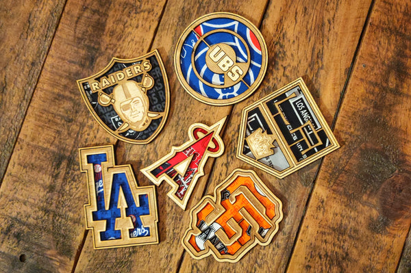 Team Logo Laser Wood Cut/Fabric Patch or Magnet