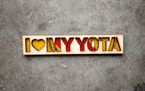 "I ♥️ My Yota Wood Cut 5"" Patch"