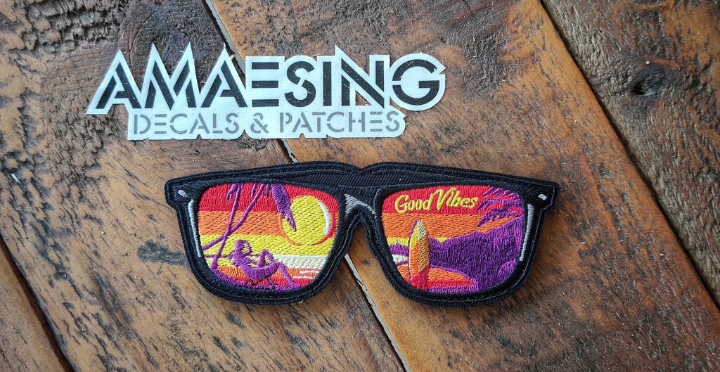 "Good Vibes Sunglasses v1 4.5"" Patch"