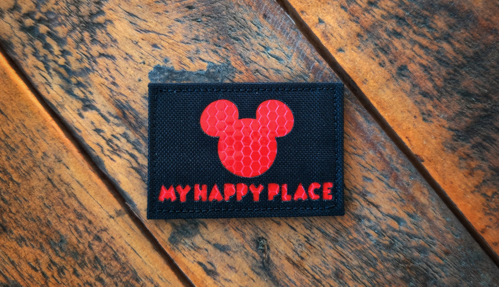 "My Happy Place 3"" Laser Cut Patch"