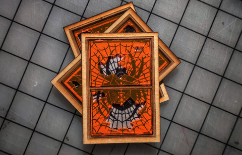 Black Widow Laser Cut Wood/Acrylic Frame Patch