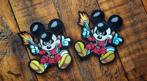 "Mickey Pool 4.5"" Velcro Patch"