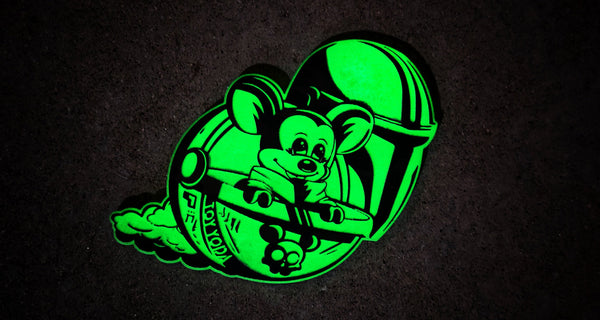 Baby Toy Yoda Mando Laser Cut Acrylic Patch
