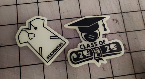 Essential / Class of 2020 Laser Cut Glow Acrylic Patches