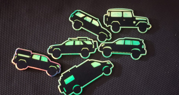 Hypercolor Laser Cut Off-Road Rig Silhouettes