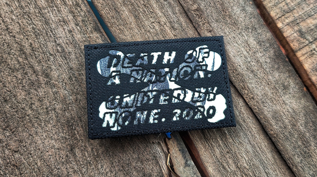 Death Of A Nation. United By None. Laser Cut Patch