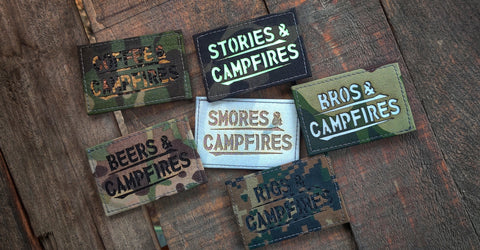 & Campfires Laser Cut Patch