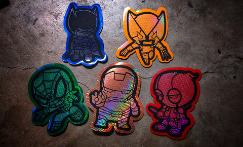 Comic Hero Mini Laser Cut Patch