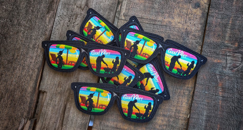 "Good Vibes Sunglasses v2 4.5"" Patch"