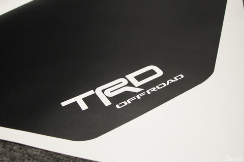 6. Amaesing FJ Hood Decal Matte Black - TRD Cut Out