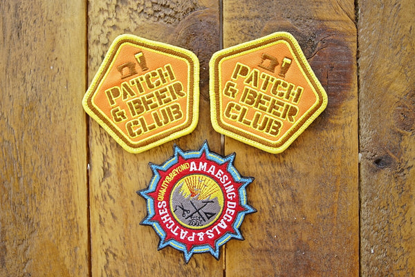 "Patch & Beer Club 3.5"" Velcro Patch"