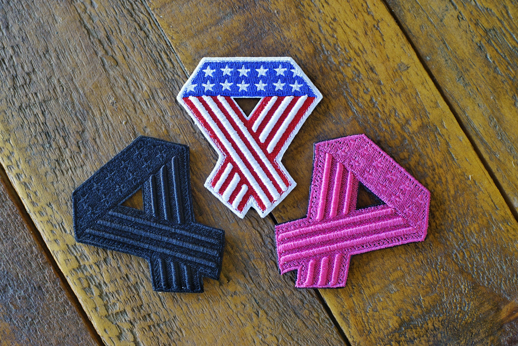 "Flag Ribbon 4"" Velcro Patch"
