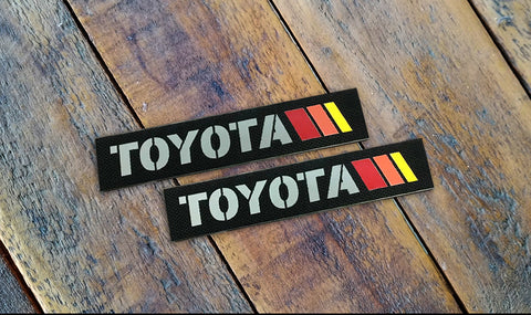 "Toyota 3 Stripe Laser Cut Reflective 4.5"" Velcro Patch"