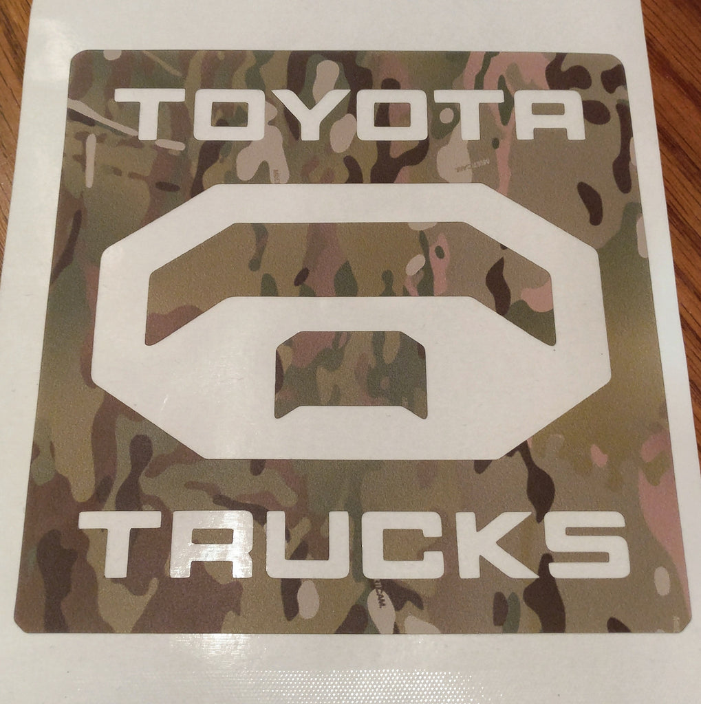 "TOYOTA TRUCKS 6"" MultiCam® sticker"
