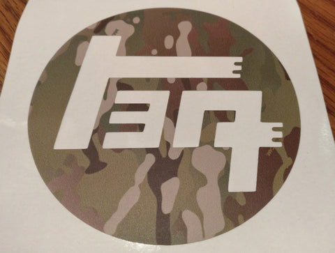 "TEQ 4"" MultiCam® sticker"