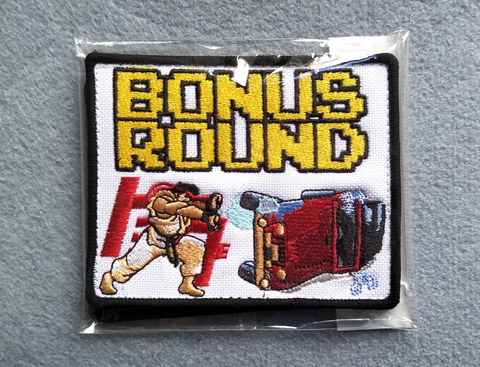 "Bonus Round Fighter 4""w Velcro Patch"
