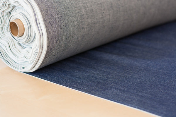 10 oz Cone Mills Selvage Denim in Medium Indigo (1/2 yard)
