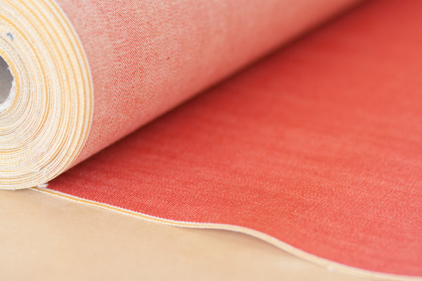 11 oz Japanese Stretch Selvage Denim in Red Coral (1/2 yard)