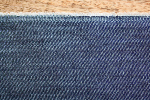 9 Oz Cone Mills S-Gene Denim in Indigo (1/2 yard) (TAMARA)