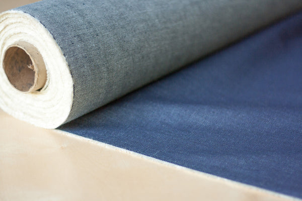 10.5 oz Cone Mills White Oak Denim in Indigo (1 yd Remnant)