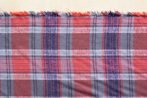 4 Oz Plaid Flannel Shirting (1/2 yard)