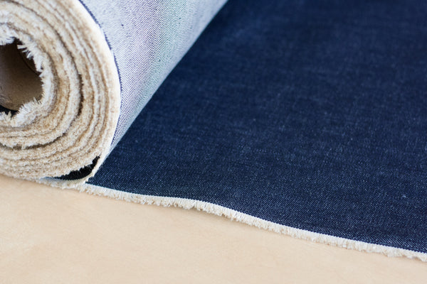 10.5 oz Cone Mills White Oak Denim in Indigo (1/2 yd)