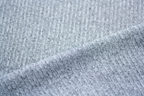 Rayon Blend 2x2 Rib Sweater Knit - Light Heathered Gray (½ yard)